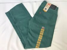 New NWT Levi's 511 Slim Cut Boy's Size 20 Regular 30x30 Green Jeans Denim Pants