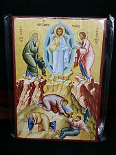 The Transfiguration or Metamorphosis of Christ Greek Orthodox Icon 14x20cm