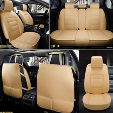 Universal Luxury PU Leather 5-Seat Car Seat Covers Protector Cushion Full Set