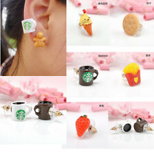 1Pair Women Girls Men Cute Food Fruit Resin Ear Stud Earrings Studs Chic Jewelry
