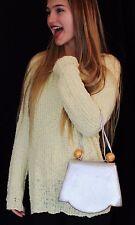 Paloma Picasso RARE SILVER Leather Petite CLUTCH HANDBAG Handbag GOLD detail