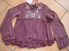 (225) Nolita Pocket Girls langarm Bluse in A-Form mit Blumen Stickerei  gr.110