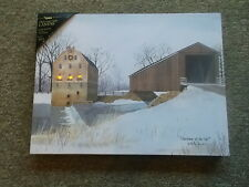 Battery Operated Lighted Canvas Christmas at the Mill Oh Folkartist Billy Jacobs