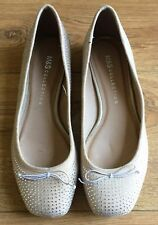 Marks & Spencer Beigh Flat Shoes with Diamonte Features-Size 4-NEW rrp £29.50