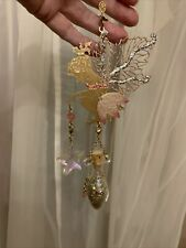 More details for rare kirks folly hanging golden glitter fairy excellent con boxed