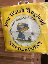 New 1973 Vintage Joan Walsh Anglund Blue Bonnet Boy & Bee Needlepoint Kit