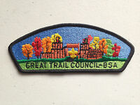 BOY SCOUT BSA CSP COUNCIL PATCH GREAT TRAIL FALL COLORS BLACK BORDER