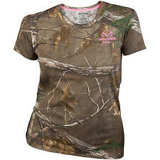Realtree XTRA Women's/Ladies Camo Short Sleeve Crew T-Shirts: S-2XL
