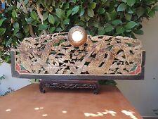 553. Antique Carved Gold Gilt  Wood Panel w/ Dragon