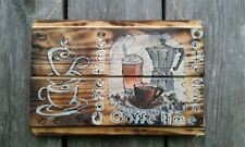 Coffee Wood signs Country kitchen Bar Rustic Home Decor Handmade Coffee time