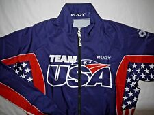 Mens EUC Blue RUDY PROJECT USA Triathlon Olympic Team Cycling Jacket size M