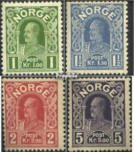 Norway 89-92 (complete issue) Volume 1910 completeett with hinge 1910 clear bran