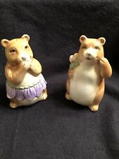 Vintage Otagiri Mary Ann Baker Bear Couple Ceramic Salt & Pepper Shakers