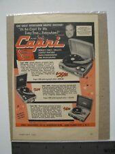 Sonic Capri Stereosonic Sound Vintage Advertisement 1955 color, Sonic Industries