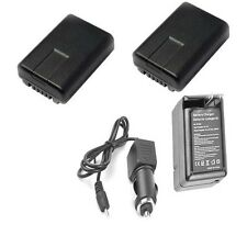 2X VW-VBY100 Batteries + Charger for Panasonic HC-V110, HC-V110K, HC-V130GA-R,