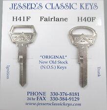 Vintage Ford FAIRLANE Nickel NOS Keys 1955 - 1965 1964 1965