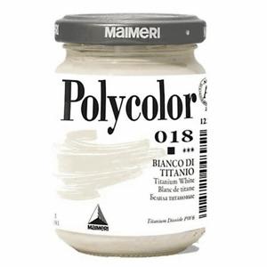 Maimeri Polycolor Blanc de Titane 018 Couleur Acrylique Fine de Vase 140 ML