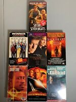 Action Movie Lot Of 7 Vhs Videos - Harrison Ford, Bruce Willis - Great Gift 🎁