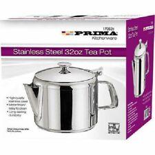 Prima Stainless Steel Tea Coffee Pot Flip Lid  32oz & Tea Pot High Quality