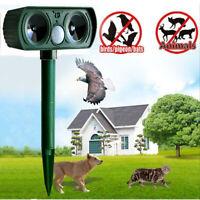 Ultrasonic Solar Sound Animal Chaser Repeller Repellent Cat Dog Fox Deterrent