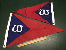 Two Vintage Wianno Yacht Club Nylon Buntings Boat Pennants Flags Osterville MA