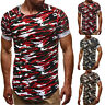 Men's Camouflage Slim Fit O Neck Short Sleeve Muscle Tee T-shirt Tops Blouse