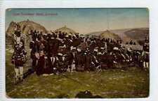 (Lx185-388) Zulu Chief Tetelekas' Band in Zululand , c1910 Unused G-VG