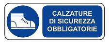 Cartello segnaletica obbligo utilizzo calzature di sicurezza alluminio 330x500mm