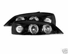 Vauxhall Astra G 98-04 noir Twin Angel Eye Phares Projecteur