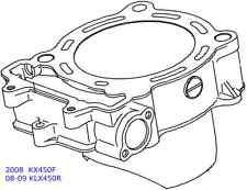 Kawasaki OEM Engine Cylinder 2008 KX450F KX 450 450F 08-09 KLX450R KLX 450R