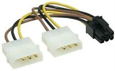 PCI-Express 6 pin a 2-molex POWER y-adapter Cavo