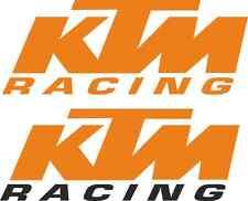 """KTM """"Racing"""" Van Autocollant Set! Énorme! 2x 30"""" + 2x 20"""" RC8 OXBOW MX Superduke"""