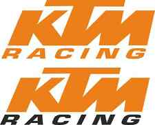 "KTM 'Racing' van Pegatina Set! enorme! 2x 30"" + 2x 20"" RC8 Oxbow MX SUPERDUKE"