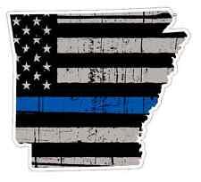 Arkansas State (V6) Thin Blue Line Vinyl Decal Sticker Car Laptop Window Cop