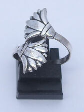 Lotus Flower .925 Silver Ring (Hallmarked)