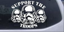 Star Wars Support The Storm Troopers Car Truck Window Decal White 6X4.7