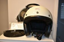 BELL CUSTOM 500 HELMET DELUXE STRIPES PEARL WHITE SIZE SMALL MOTORCYCLE SCOOTER