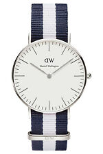 Daniel Wellington Mens Classic Glasgow 36mm Silver 0602DW Watch - 9 off