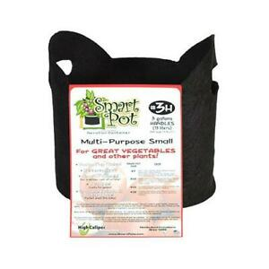 Smart Pot Multi-Purpose Container Grower, Black Fabric, 3-Gallons