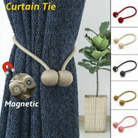 Magnetic Ball Curtain Tiebacks Tie Backs Buckle Clips Holdbacks Home 1Pair