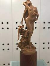 """""""The Spring"""" Season Girl Boxwood Carving Statue"""