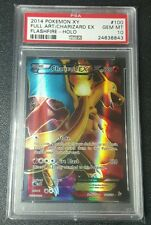 ****GEM Mint**** Pokemon PSA 10 Full Art Charizard EX Holo #100 XY FlashFire! FA