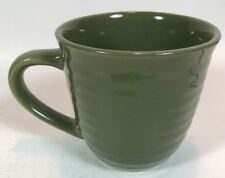 HOME TRENDS Coffee Cup Mug GREEN Ribbed