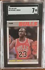 1987-88 Fleer Basketball Set W/ Stickers Michael Jordan sgc 7 NM + Malone 9.5 +