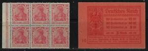 GERMANY 1906 SECOND BOOKLET PANE OF GERMANY Sc 83A NEVER HINGED SUPERB