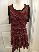Dolce and Gabbana Women's Red Reindeer Dress Size Medium