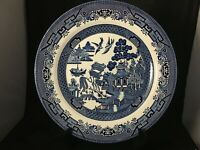 "CHURCHILL BLUE WILLOW DINNER PLATE 10-1/4"" MADE IN ENGLAND MINT CONDITION"