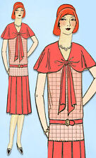 1920s VTG Ladies Home Journal Sewing Pattern 6219 FF Misses Flapper Dress Sz 36B