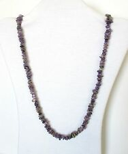 """Charoite Natural Chip Stones Beads Strand Necklace.  33"""" Long.  NWT  CHRA"""