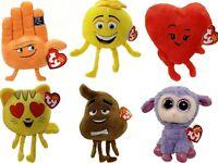 """6"""" Emoji Ty's New Beanie Collection Quality Soft Plush Kids Teddy Toy"""